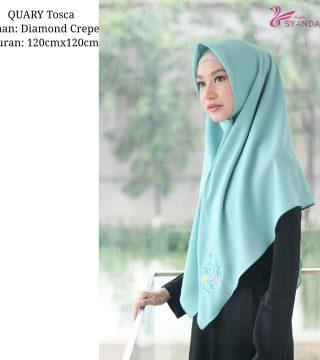 Jual Jilbab Segi Empat Quary Tosca Hijab Syandana
